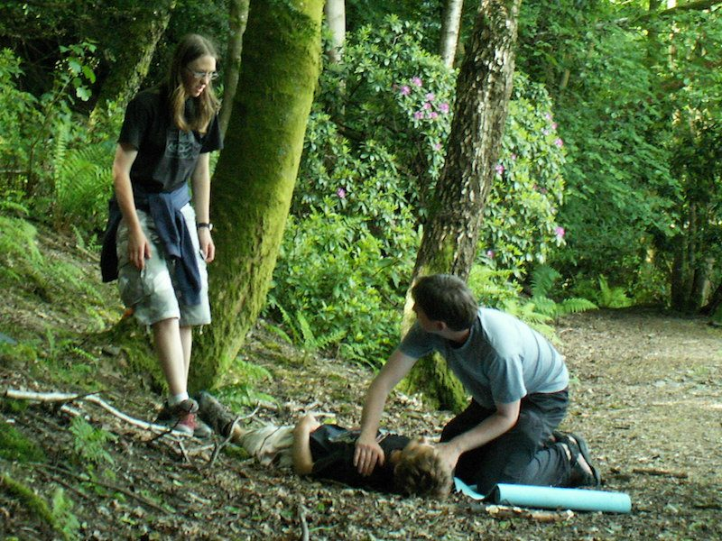 Unconscious casualty outdoors
